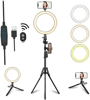tcbrilli led selfie ring light amazon